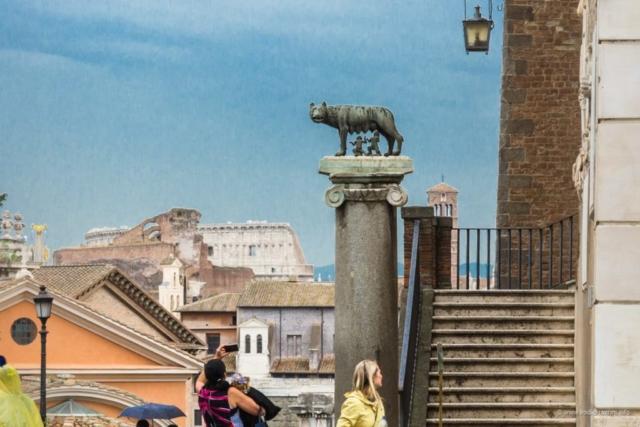 Simbol Rima: Vučica, Romul i Rem (foto: Vodič kroz Rim)
