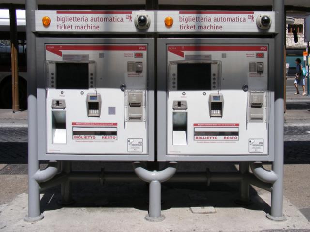 Gradski prevoz Rima - mašine za kupovinu karata