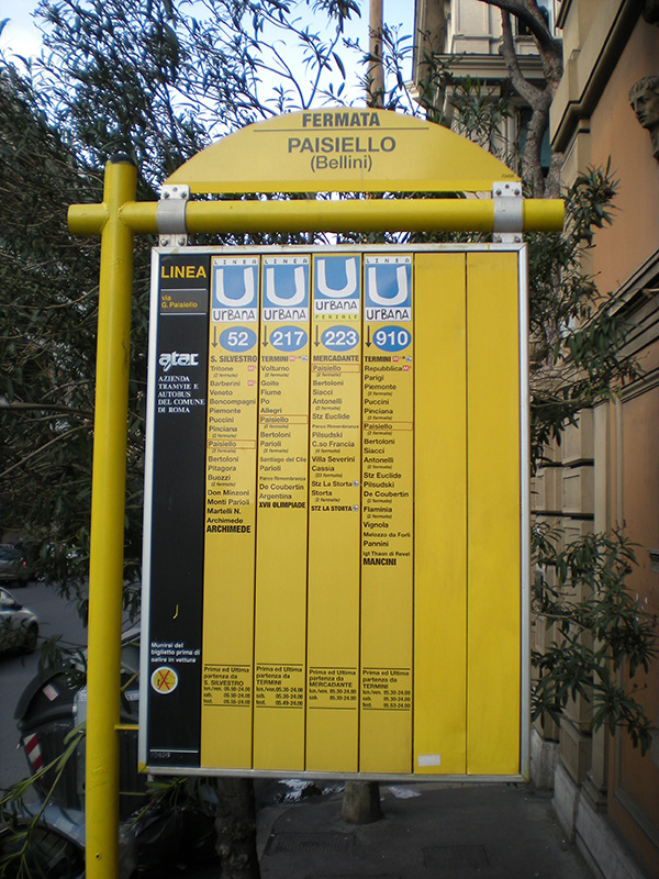 Gradski prevoz Rima - stajaliste