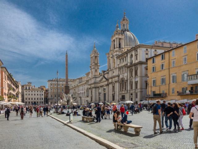 Trg Navona u Rimu - pogled sa severne strane