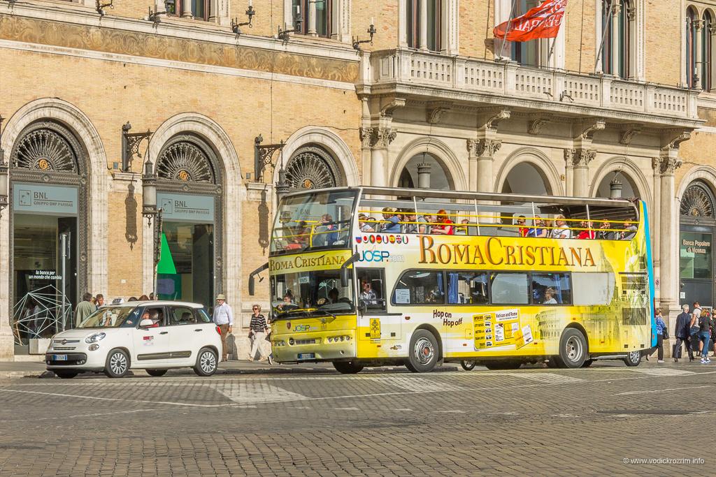 Roma Cristiana panoramski autobus Rim