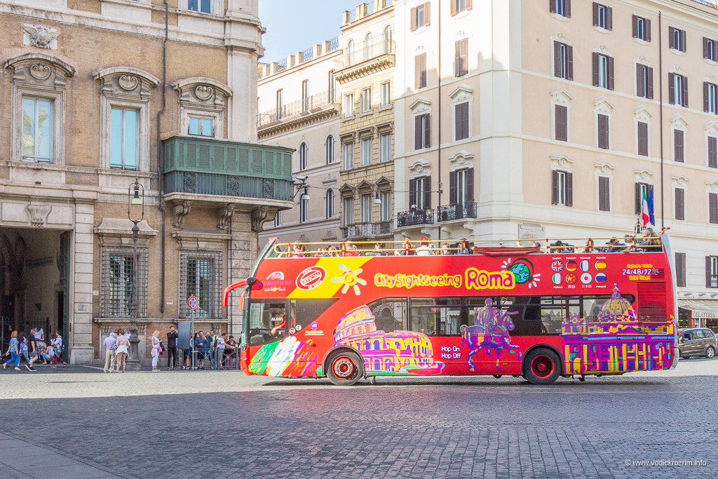 City Sightseeing Roma panoramski autobus Rim