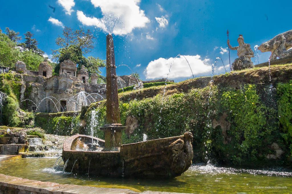 Vila d'Este u Tivoliju - Fontana mali Rim