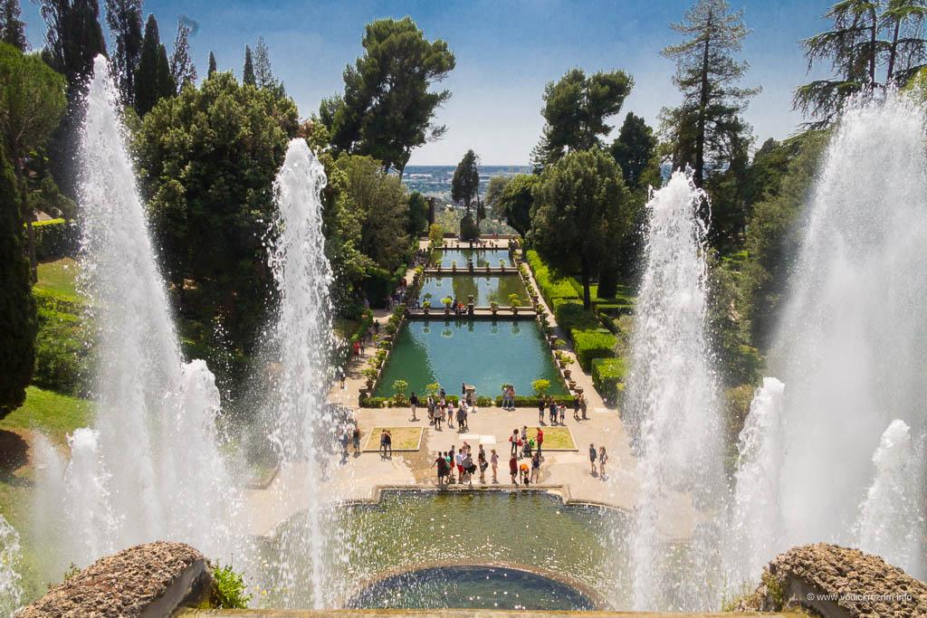 Vila d'Este u Tivoliju - Neptunova fontana, pogled odozgo