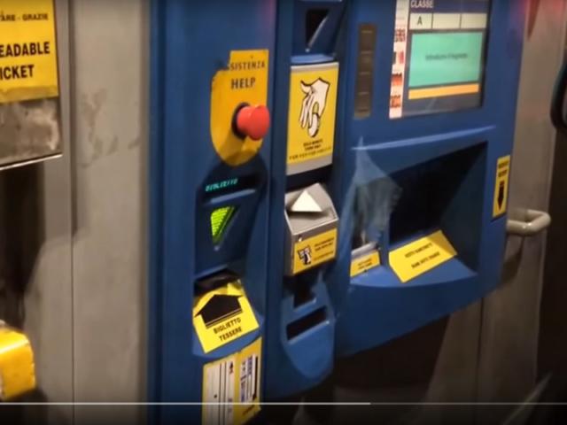 Naplatne rampe u Italiji - automatska kasa