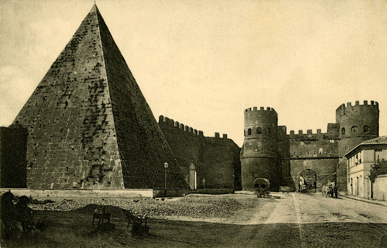 Cestijeva piramida, snimak iz 1880. (foto: Wikipedia)