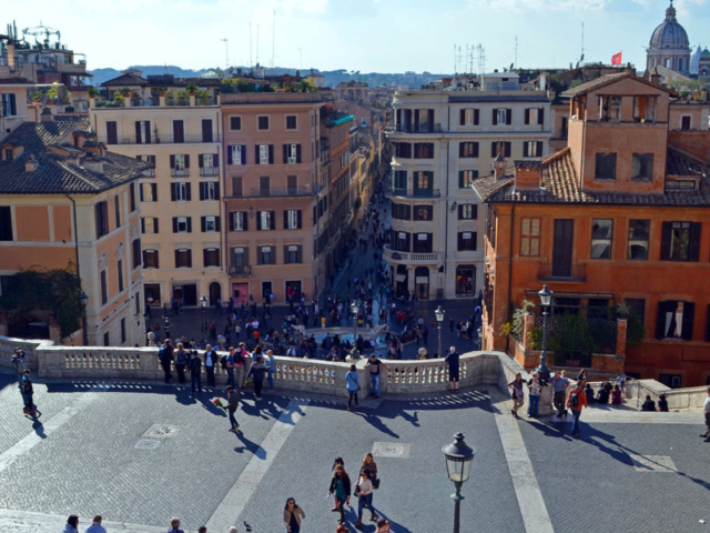 Španski trg - pogled sa gornje terase
