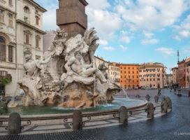 Trg Navona u Rimu - Fontana četiri reke (foto: LorenzoClick)