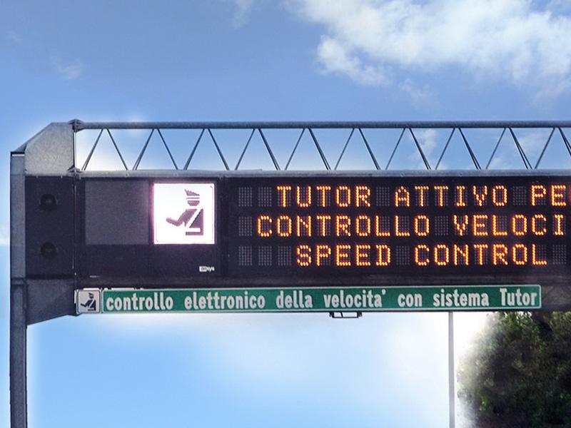 Gejt na kojoj je postavljen sistem za kontrolu brzine Tutor