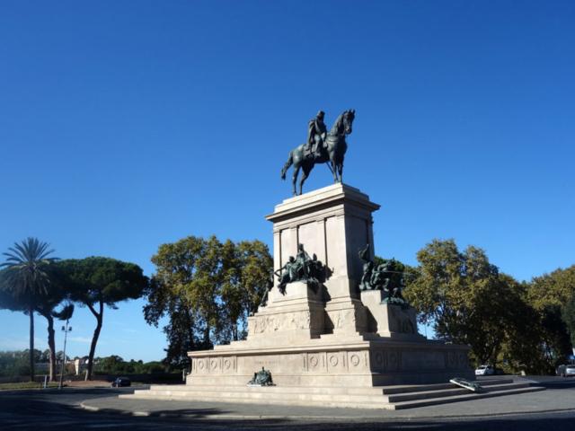 Vidikovac Janikul - statua Đuzepea Garibaldija (foto: Garann/Flickr)
