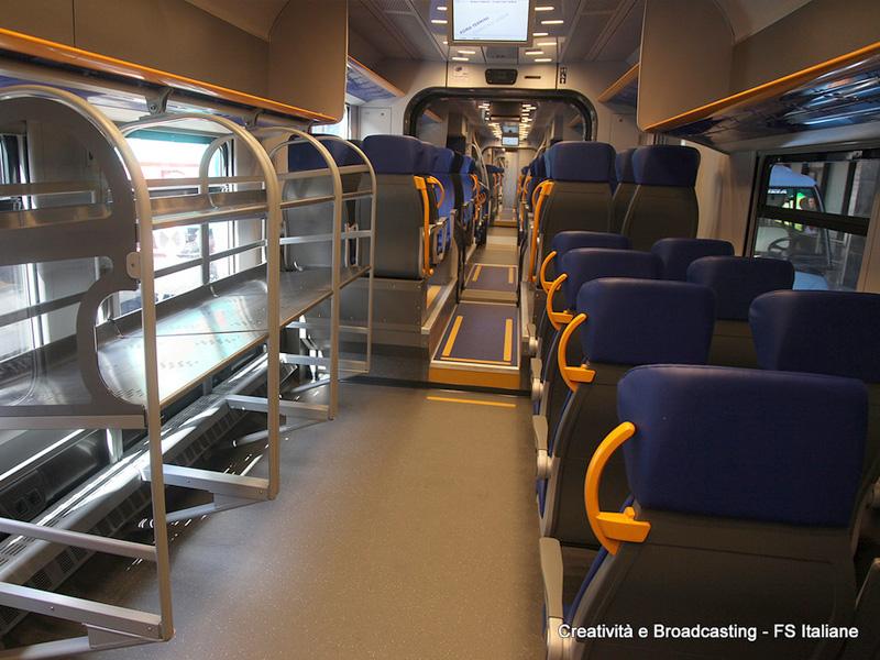 Voz Leonardo Express - unutrašnjost