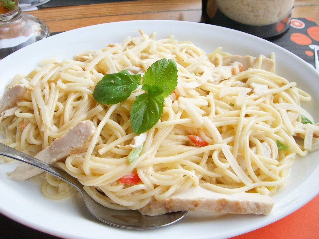 Pasta sa piletinom (pasta al pollo)