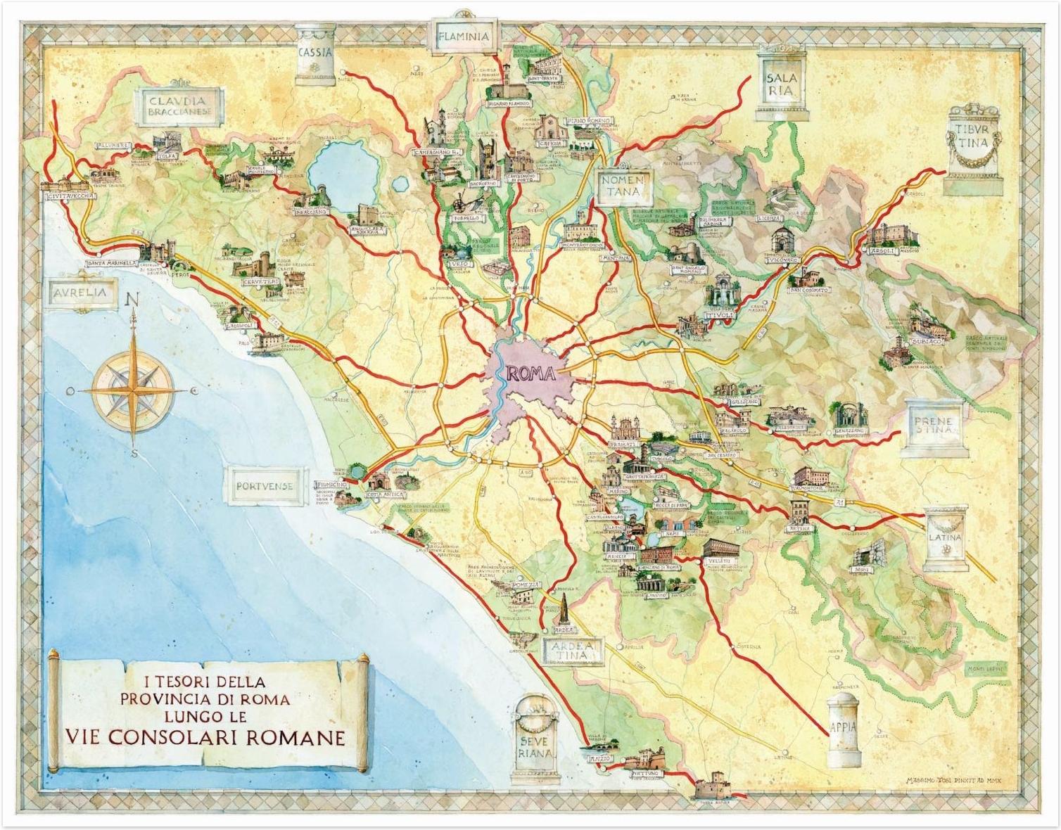 Svi putevi vode u Rim - mapa
