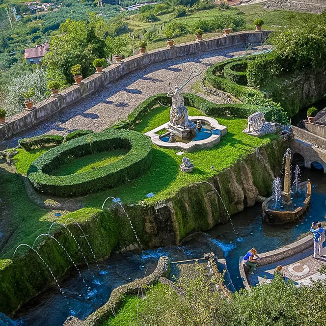 Vila d'Este u Tivoliju – vrt 100 fontana
